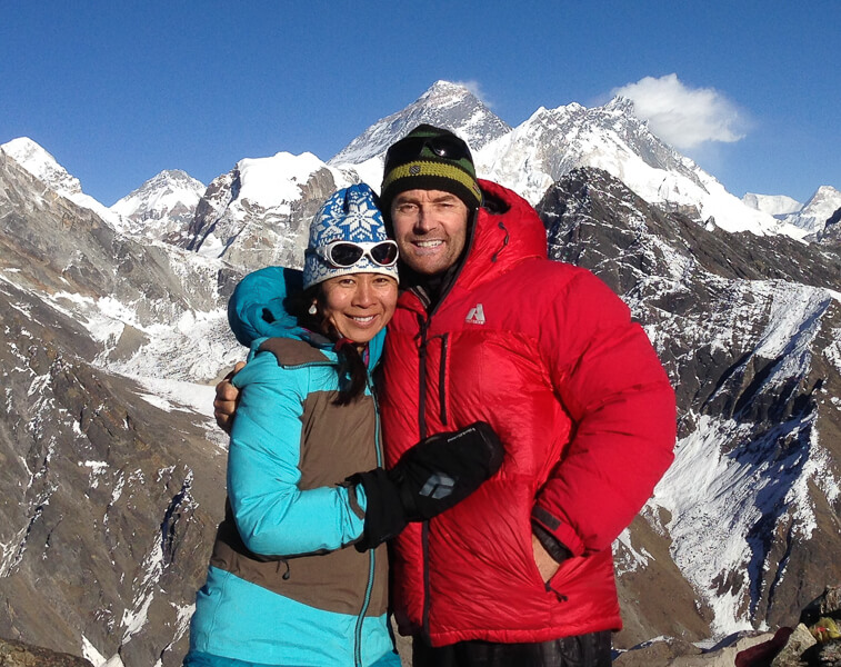 Gerry and Pia Moffatt in the Himalayas