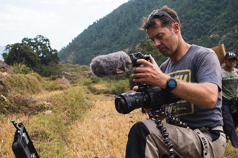 Gerry Moffat Setting up cinema camera